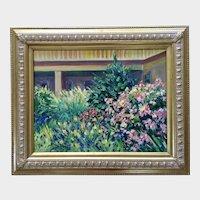 Rosemary Scheuering, Wildflower Garden Oil Painting