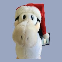 "Santa Opus Penguin Dakin Stuffed Plush Animal Christmas 13"""
