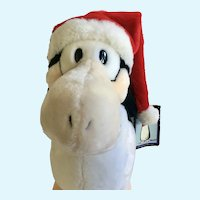 Santa Opus Penguin Dakin Stuffed Plush Animal Christmas 13""