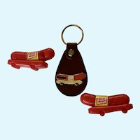 Oscar Mayer Keychain & Two Wiener Whistles Group