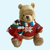 Winnie the Pooh Christmas Scarf Stuffed Plush Disney Store
