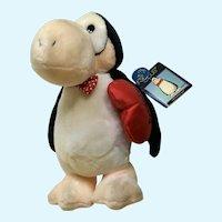 Opus Valentines Day Penguin  Stuffed Plush Dakin 1984