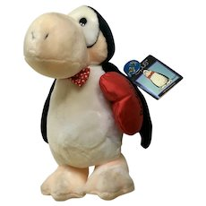 Opus Valentines Day Penguin  Stuffed Plush Dakin 1984