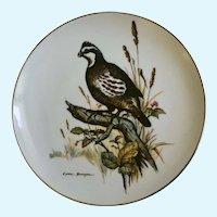 Clark Bronson Bobwhite Quail Bird Limited Edition Plate