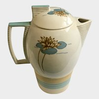 Pitcher Coffee Pot American Limoges Early 20th Century Triumph Pond Lilly