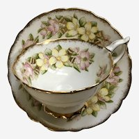 Royal Stafford Floral Cup & Saucer Bone China Orange Blossom