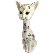 Mid-Century Italy Long Neck Cat Figurine