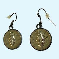 Shiny Silver-tone Circle Hook Earrings for Pierced Ears
