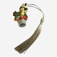 Hallmark Thimble Partridge Bird Christmas Ornament 1986