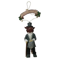 Ebenezer Scrooge Ornament A Christmas Carol in the Deep Woods Papel Freelance