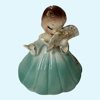 Josef Originals Girl Holding Fan Japan Figurine