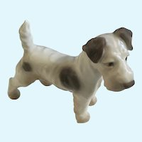 Bing and Grondahl Fox Terrier Dog Figurine by Dahl Jensen B&G