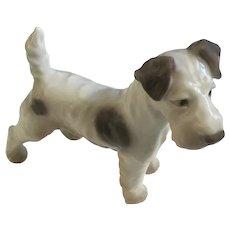 Bing and Grondahl Fox Terrier Dog Figurine by Dahl Jensen B&G