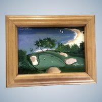 Makena Golf Course Maui Hawaii Acrylic Painting Signed by Artist