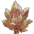 Autumn Maple Leaves Shiny Fall Brooch Pin
