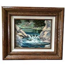 Robert Wands, River Rocks Landscape Oil Painting