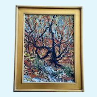 Greg Custer, Scrub Oak Impressionist Landscape Oil Painting