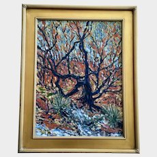 Greg Custer, Scrub Oak Impressionist Landscape Oil Painting