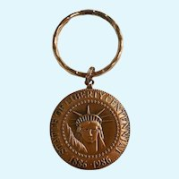 Statue of Liberty Key Tag Ring Copper The Commemorative Mint Centennial