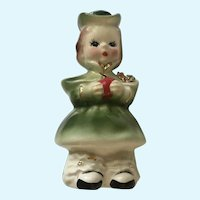 Josef Originals Holiday Girl Ceramic Figurine Japan