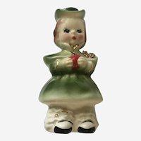 Josef Originals Holiday Girl Ceramic Figurine Japan
