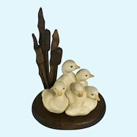 Baby Ducklings in Cattails Editions in Porcelain Edgerton Wisconsin
