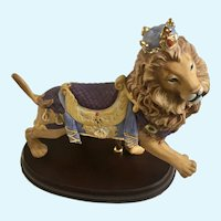 Large Lenox Carousel Lion Figurine With Crown