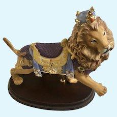 Large Lenox Carousel Lion Figurine With Crown