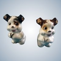 Bingo Cracker Jack Dog Salt & Pepper Shakers Made in Japan Vintage