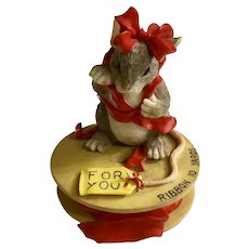 Charming Tales Mouse All I Can Give You Is, Red Ribbon Figurine