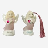 Enesco Precious Moments January Birthday Angel Girls Christmas Ornament