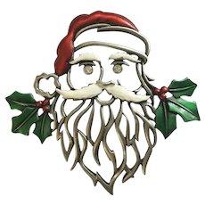 JJ Santa Claus Large Christmas Brooch Pin
