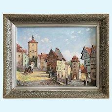 W. Reimann European Town Oil Painting