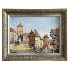 W. Reimann European Town Oil Painting