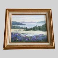 Jacqueline E Hooker, Salt Spring Island Inside Passage Landscape Watercolor Painting