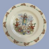 Royal Doulton Bunnykins Bunny Rabbit Plate English Fine Bone China