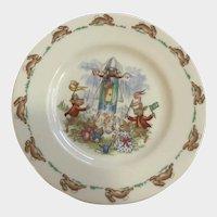 Royal Doulton Bunnykins Bunny Rabbit Plate English Fine Bone China