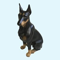 Harvey Knox Dobermann Pinscher Dog Ceramic Figurine Made in Japan