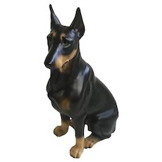 Harvey Knox Dobermann Pinscher Dog Ceramic Figurine Made in Japan