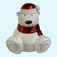 Retired Slatkin & Co Paws The Polar Bear Christmas Candle