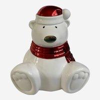Retired Slatkin & Co Paws The Polar Bear Christmas Candle
