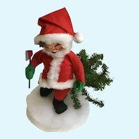 Annalee Santa Claus Cutting Down Christmas Tree Stuffed Plush Doll