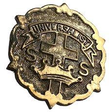 Vintage Bronze Universalist Brooch Pin