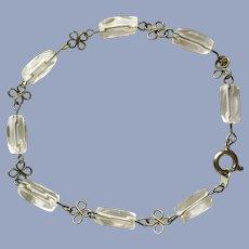 Vintage Handmade Bracelet with Glass Beads