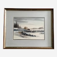 Robert Corty, Abandoned Barn Watercolor Painting Signed by Listed Artist