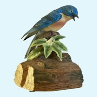 Blue Bird Porcelain Figurine Gorham Made in Japan Music Box