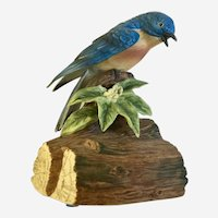 Blue Bird Porcelain Figurine Gorham Made in Japan Music Box