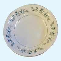 Yamaka Nancy Serving Bowl Blue & Pink Flowers