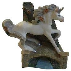 1994 Unicorn Princeton Gallery PG TM Fantasy Hand Painted Miniature Porcelain