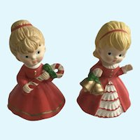 Vintage Christmas Girl Homco Figurines 5251